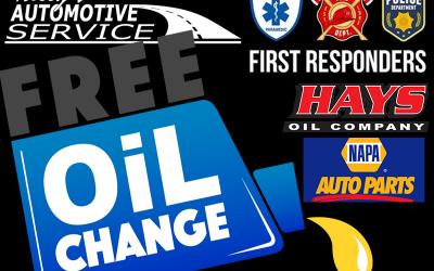 FREE Oil Change for 1st Responders